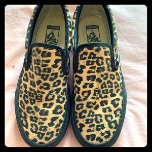 Custom Platform Vans Slip-On (Leopard Canvas)